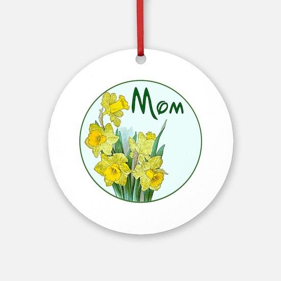 daf-Mom-C10trans Round Ornament