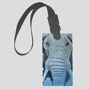Blue Elephant iPhone Large Luggage Tag