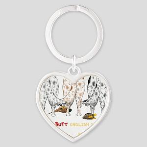 EnglishSetterTransNew Heart Keychain