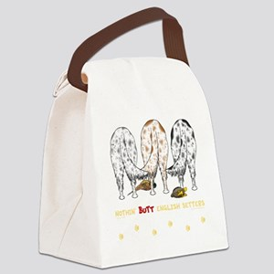 EnglishSetterTransNew Canvas Lunch Bag