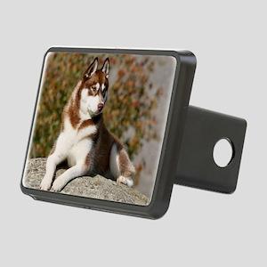 Siberian Husky 9Y773D-076 Rectangular Hitch Cover