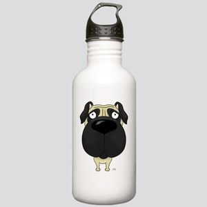 PugShirtFront Stainless Water Bottle 1.0L