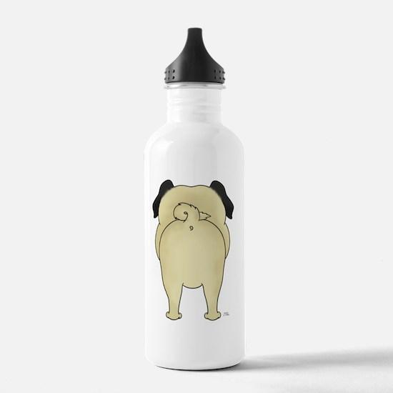 PugShirtBack Water Bottle