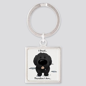 NewfieDroolLight Square Keychain