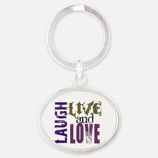 LLL Oval Keychain