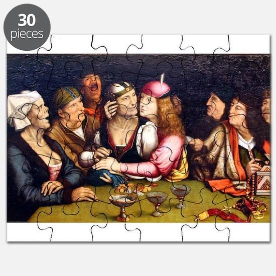 Unequal Marriage - Quinten Massys - c 1520 Puzzle