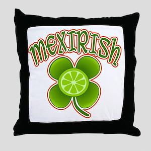 mexirish-lime Throw Pillow
