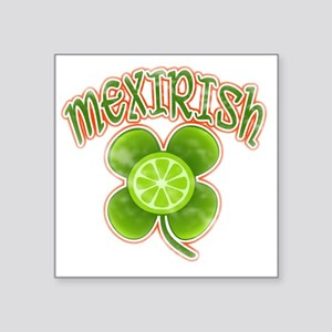 "mexirish-lime-vintage Square Sticker 3"" x 3"""