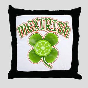 mexirish-lime-vintage Throw Pillow