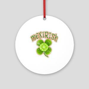 mexirish-lime-vintage Round Ornament