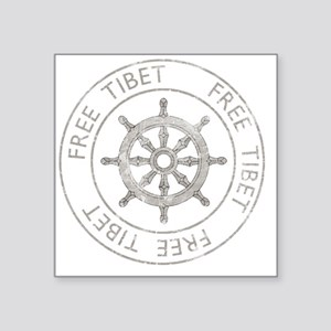 "tibet31Bk Square Sticker 3"" x 3"""