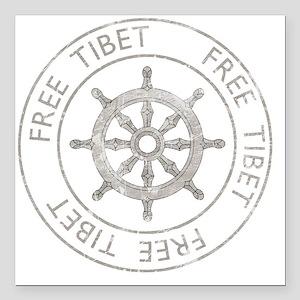 "tibet31Bk Square Car Magnet 3"" x 3"""