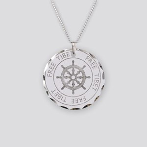 tibet31Bk Necklace Circle Charm