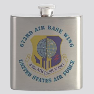 673rd Air Base Wing with Text Flask