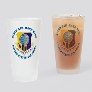 673rd Air Base Wing with Text Drinking Glass