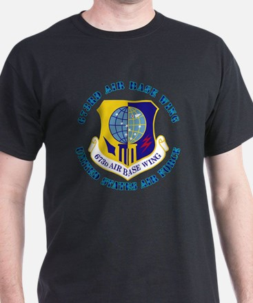 673rd Air Base Wing with Text T-Shirt