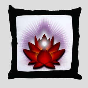 Chakra Lotus - Red Throw Pillow