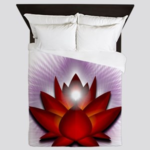 Chakra Lotus - Red Queen Duvet