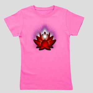 Chakra Lotus - Red Girl's Tee