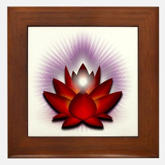 Chakra Lotus - Red Framed Tile