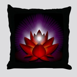 Chakra Lotus - Root Red - Banner Throw Pillow