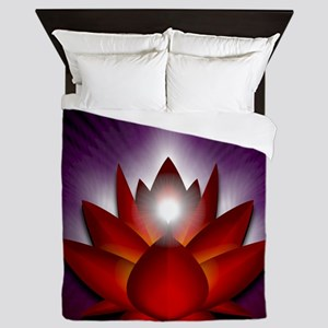 Chakra Lotus - Root Red - Banner Queen Duvet