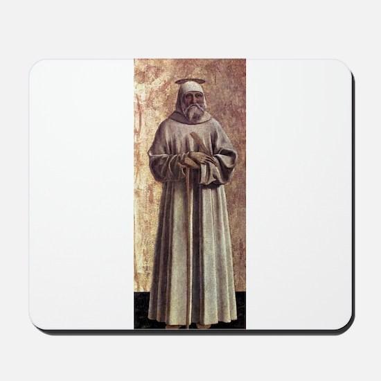 Saint Benedict - Piero della Francesca Mousepad