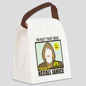 Dont Recall Janice happy sun Canvas Lunch Bag