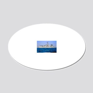 meredith rectangle magnet 20x12 Oval Wall Decal