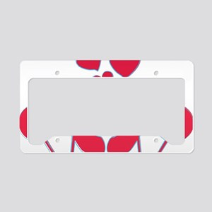 abstractci6-hearts License Plate Holder