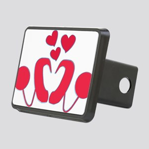 abstractci6-hearts Rectangular Hitch Cover