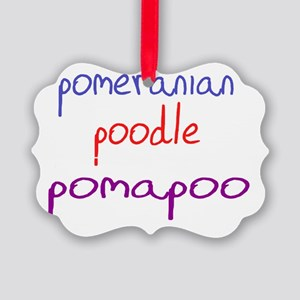 pomapoo_black Picture Ornament
