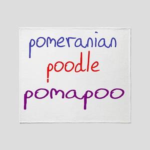 pomapoo_black Throw Blanket