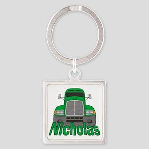 nicholas-b-trucker Square Keychain