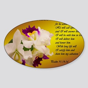 Psalm 91 Sticker (Oval)