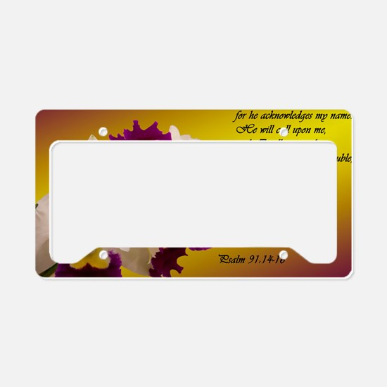 Psalm 91 License Plate Holder