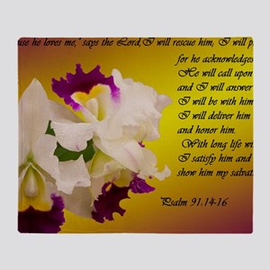 Psalm 91 Throw Blanket