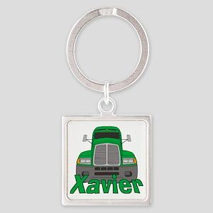 xavier-b-trucker Square Keychain