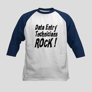 Data Entry Rocks ! Kids Baseball Jersey