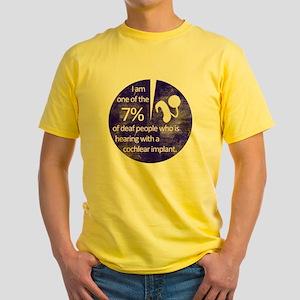 7percent-1 Yellow T-Shirt