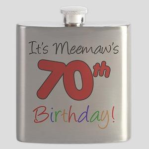 Meemaws 70th Birthday Flask