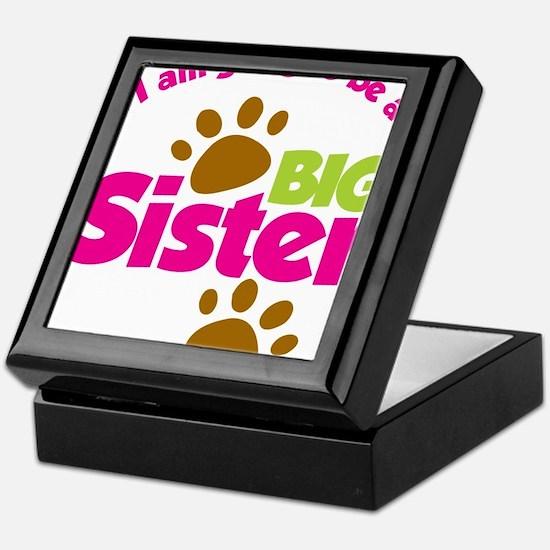 DogsPawPrintBigSisterToBe Keepsake Box
