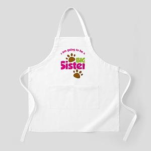 DogsPawPrintBigSisterToBe Apron