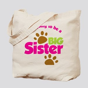 DogsPawPrintBigSisterToBe Tote Bag