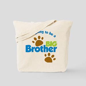 DogPawPrintBigBrotherToBe Tote Bag