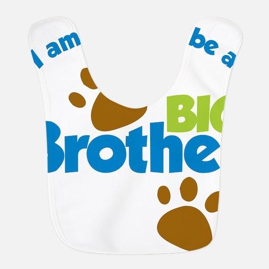 DogPawPrintBigBrotherToBe Bib