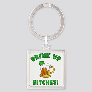 Drink Up Square Keychain