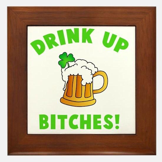 Drink Up - dk Framed Tile