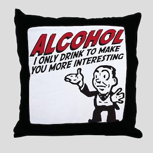 alcohol Throw Pillow