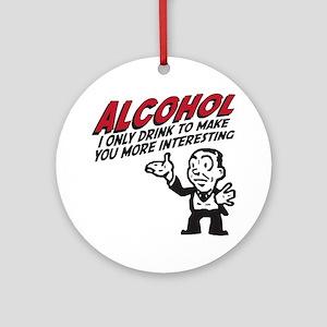 alcohol Round Ornament